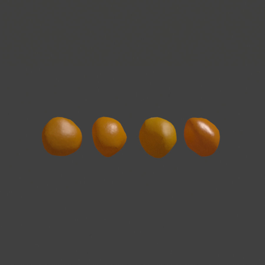 Popcorn Kernels royalty-free 3d model - Preview no. 3