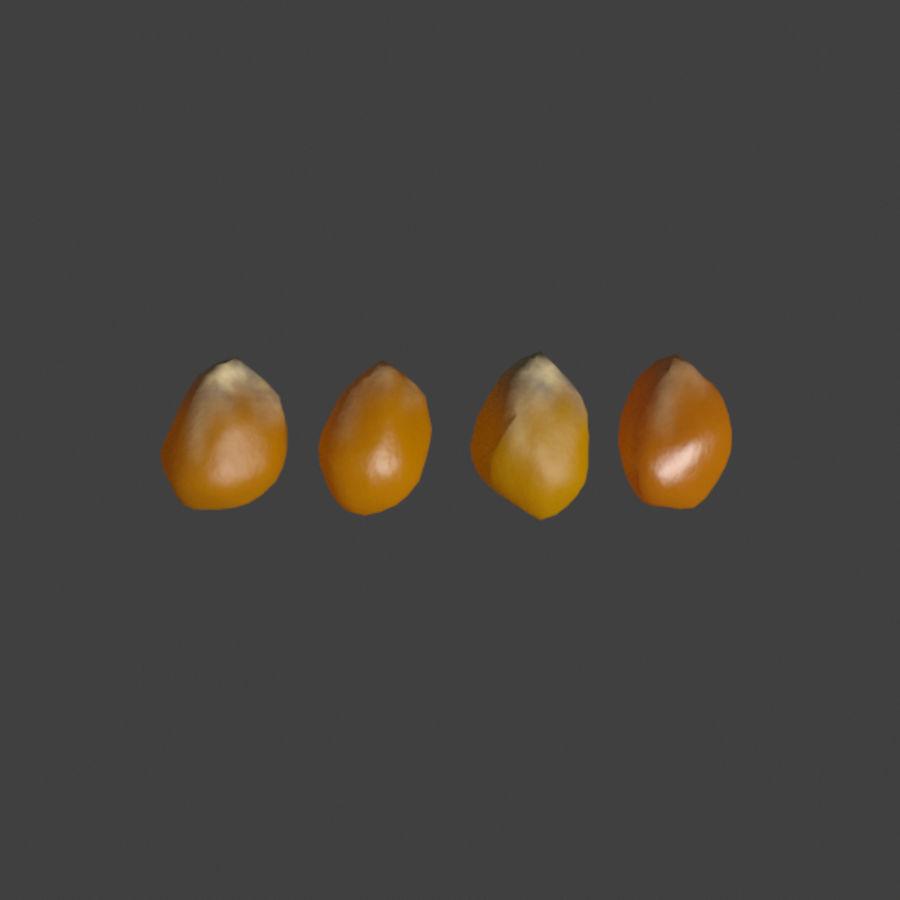 Popcorn Kernels royalty-free 3d model - Preview no. 1