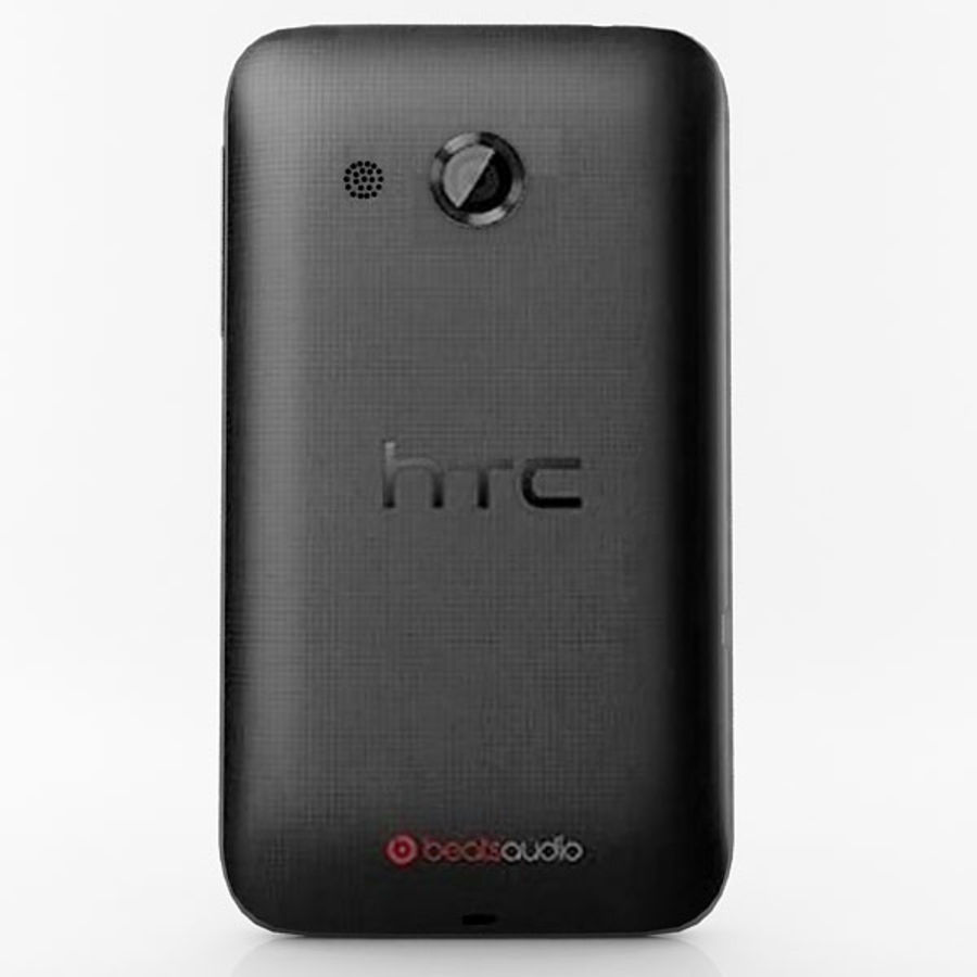 HTC Desire 200 Black royalty-free 3d model - Preview no. 5