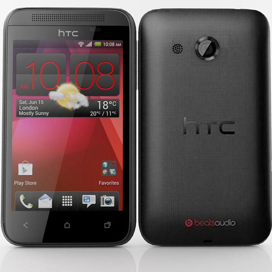 HTC Desire 200 Black royalty-free 3d model - Preview no. 1