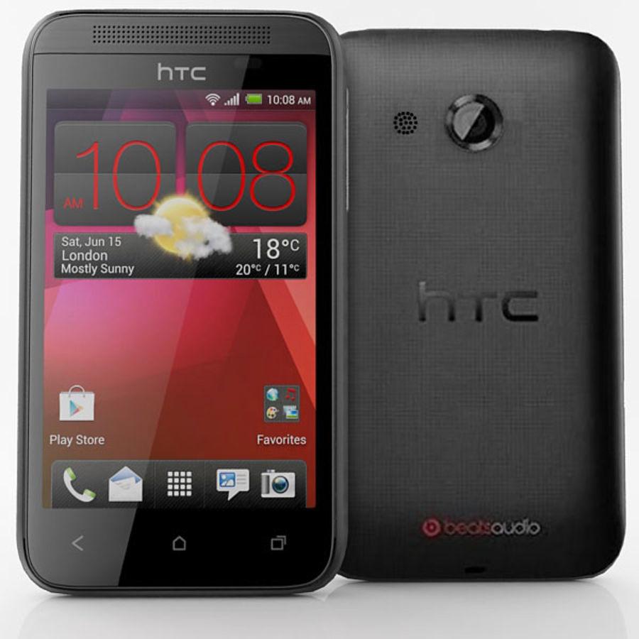 HTC Desire 200 Black royalty-free 3d model - Preview no. 2