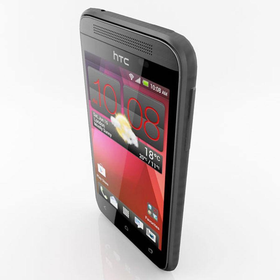 HTC Desire 200 Black royalty-free 3d model - Preview no. 8