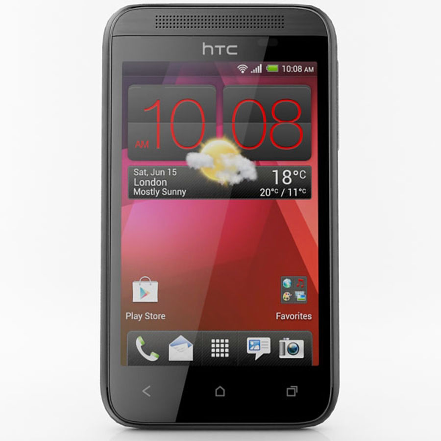 HTC Desire 200 Black royalty-free 3d model - Preview no. 4