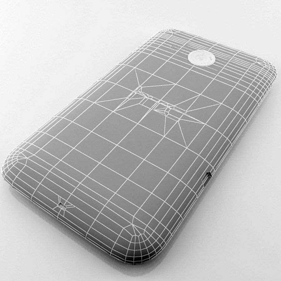 HTC Desire 200 Black royalty-free 3d model - Preview no. 13