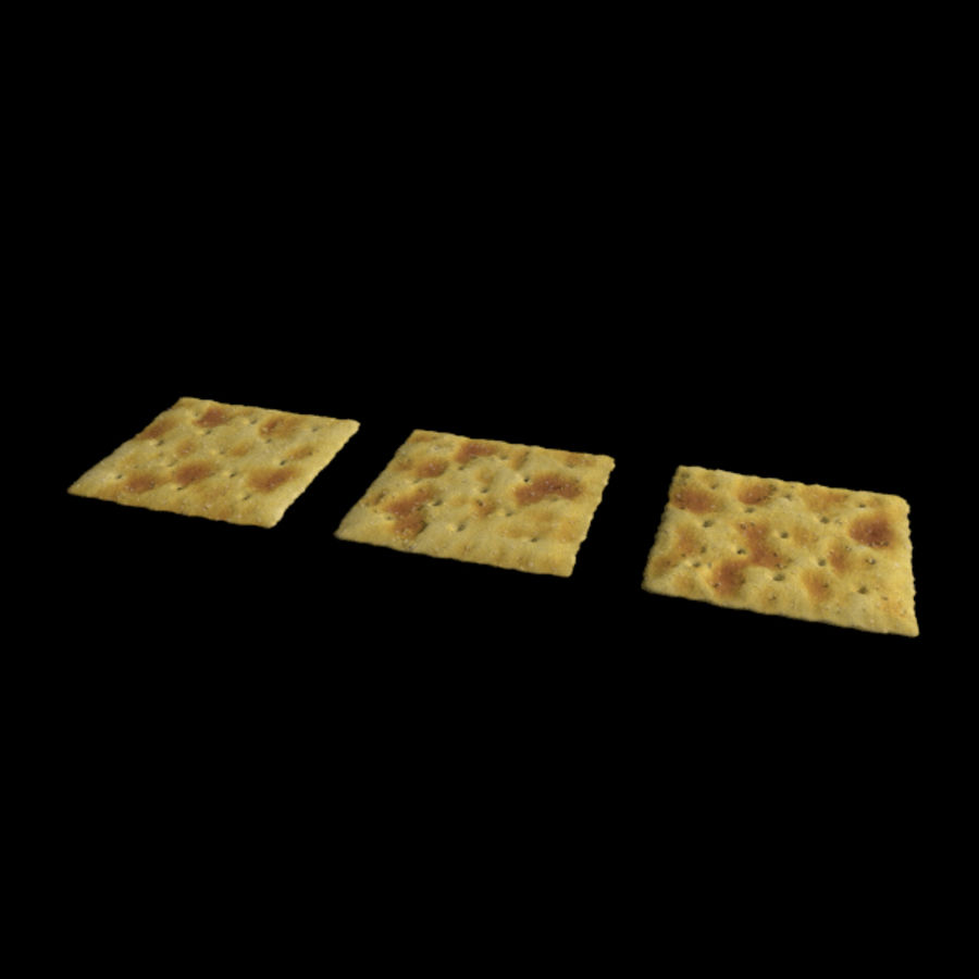 Saltine Crackers royalty-free 3d model - Preview no. 4