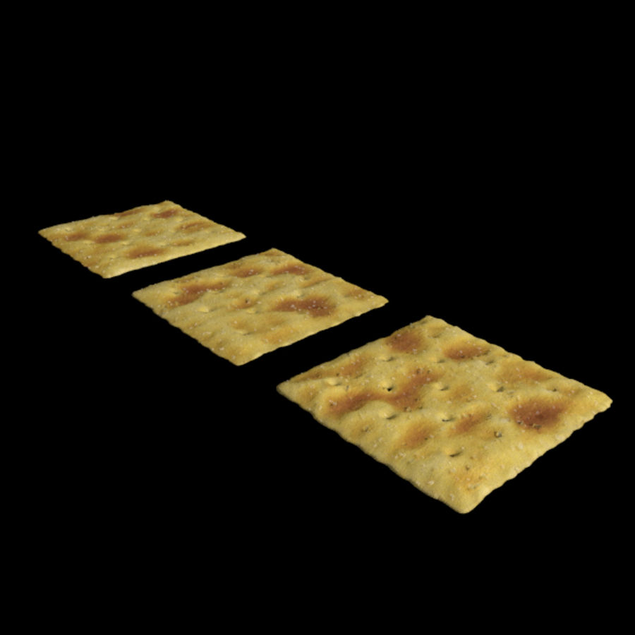 Saltine Crackers royalty-free 3d model - Preview no. 2