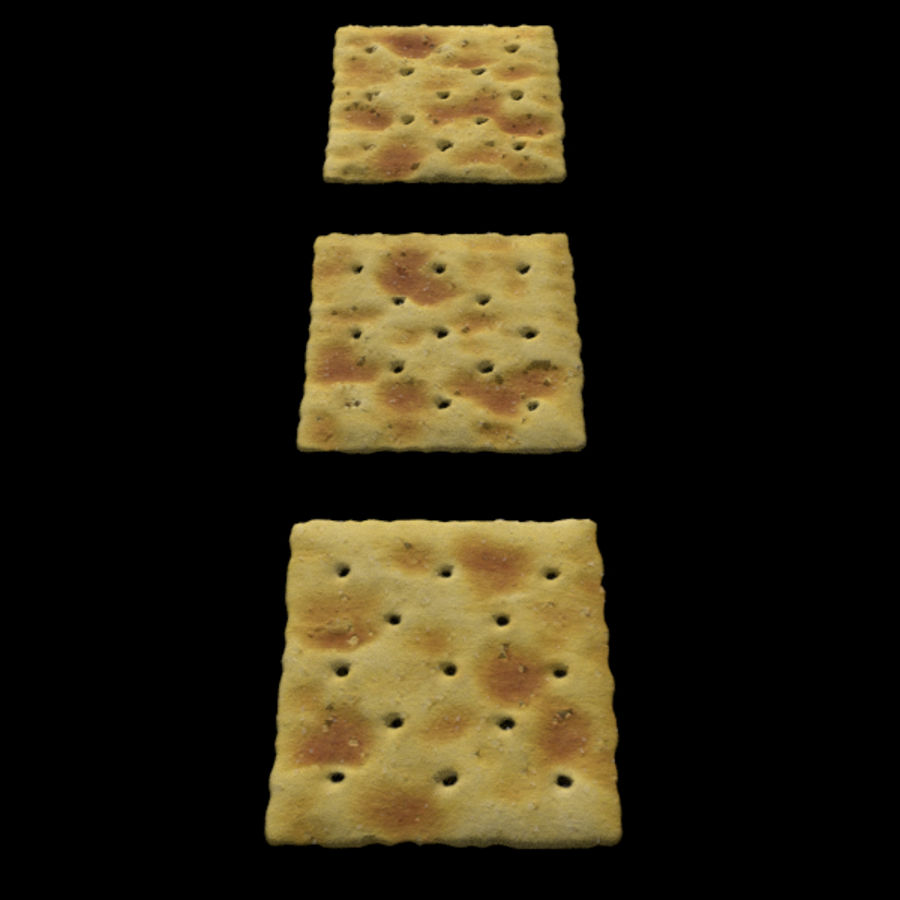 Saltine Crackers royalty-free 3d model - Preview no. 5