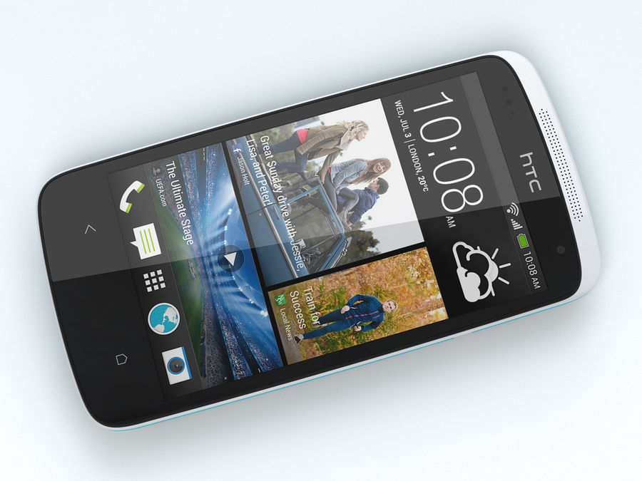 HTC Desire 500 royalty-free 3d model - Preview no. 11