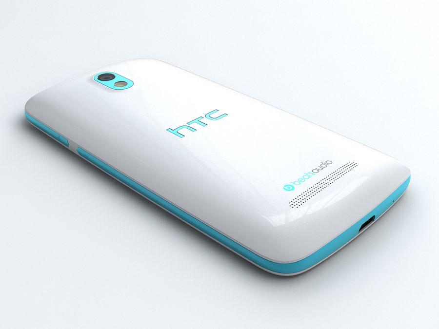 HTC Desire 500 royalty-free 3d model - Preview no. 4