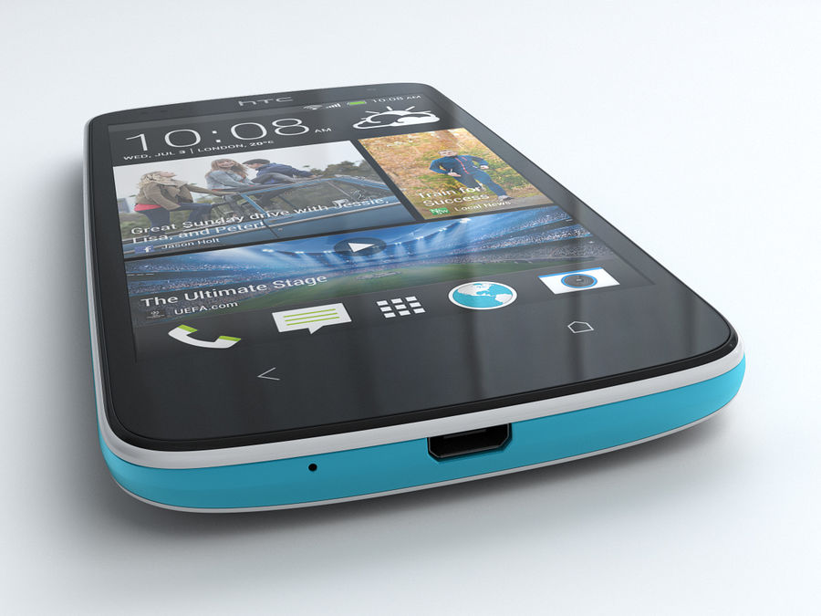 HTC Desire 500 royalty-free 3d model - Preview no. 5