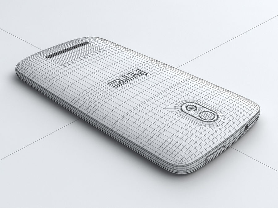 HTC Desire 500 royalty-free 3d model - Preview no. 23