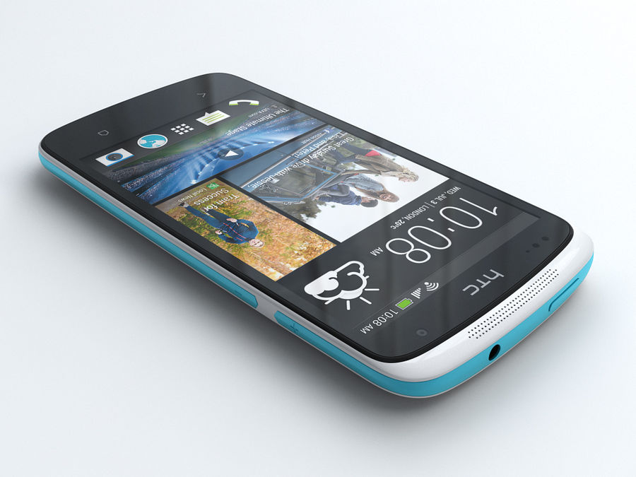 HTC Desire 500 royalty-free 3d model - Preview no. 2