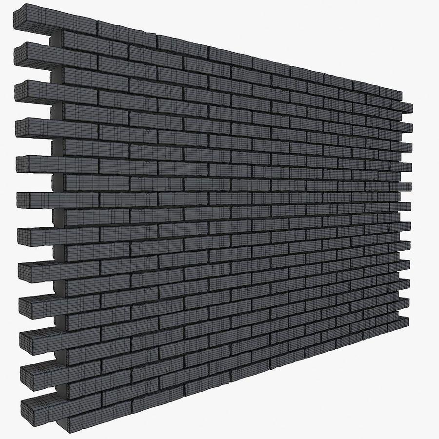 Brick Wall 01 royalty-free 3d model - Preview no. 3