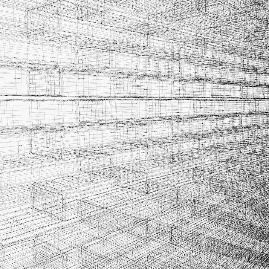 Brick Wall 01 royalty-free 3d model - Preview no. 8
