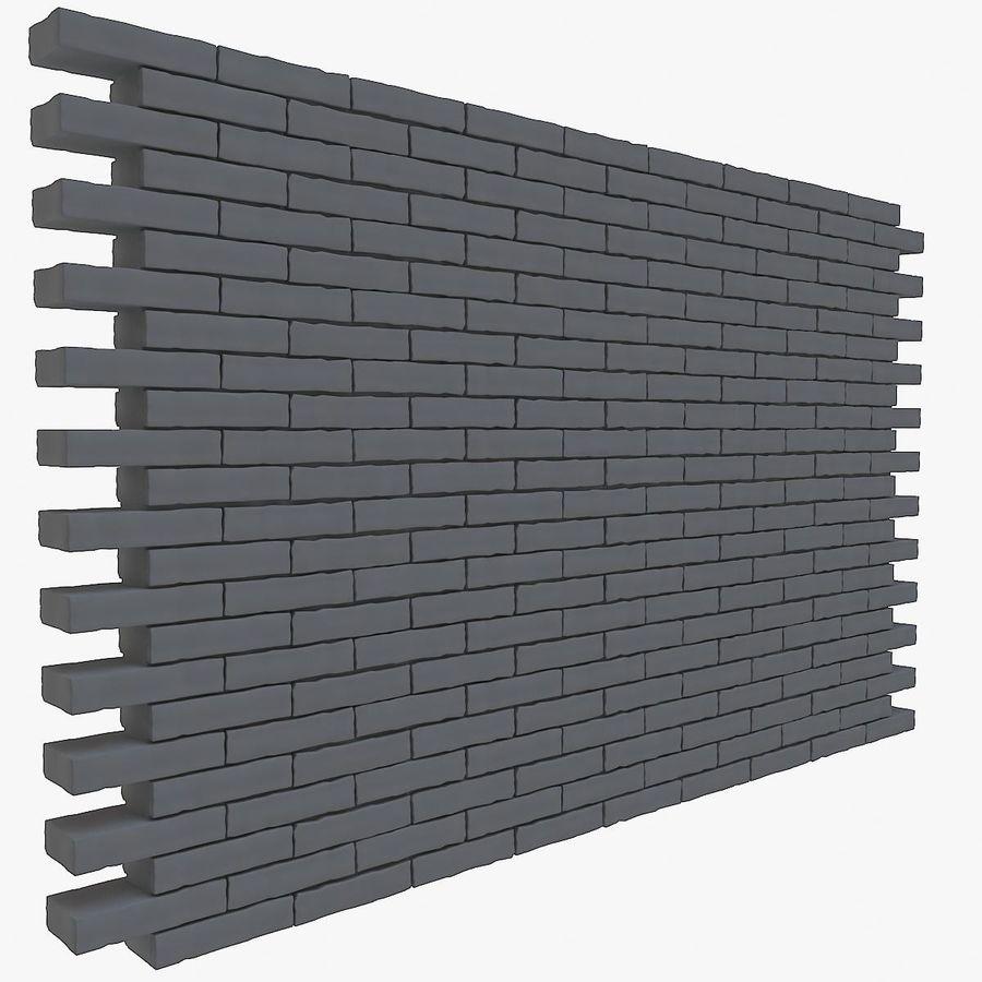 Brick Wall 01 royalty-free 3d model - Preview no. 2
