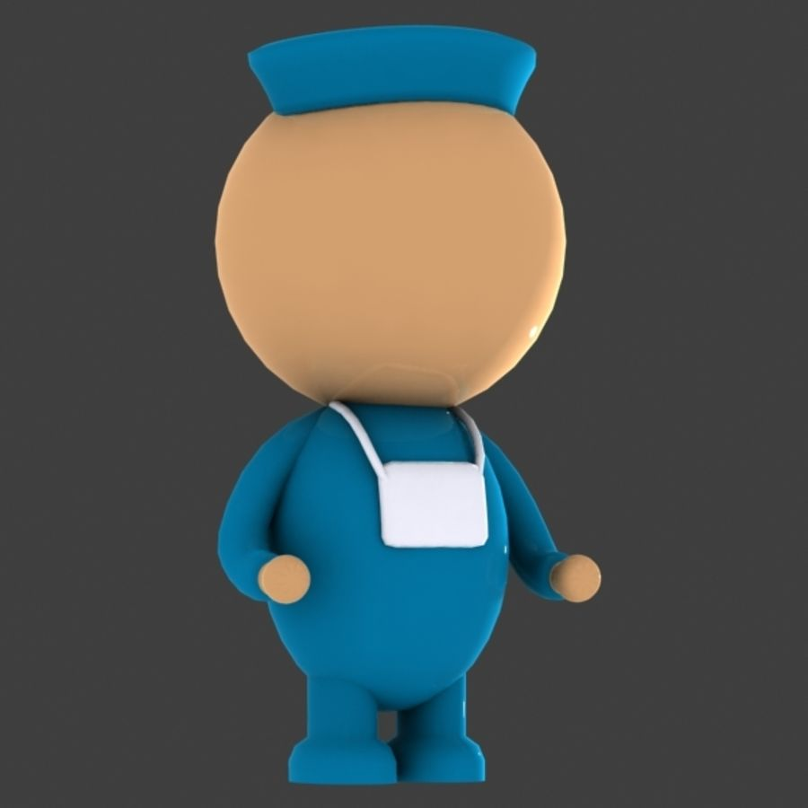 Surgeon Character royalty-free 3d model - Preview no. 2