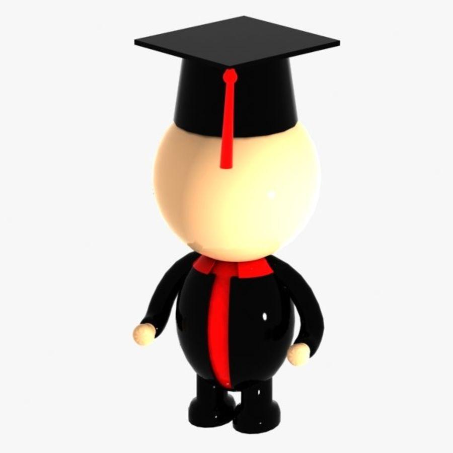 Personagem de estudante royalty-free 3d model - Preview no. 4