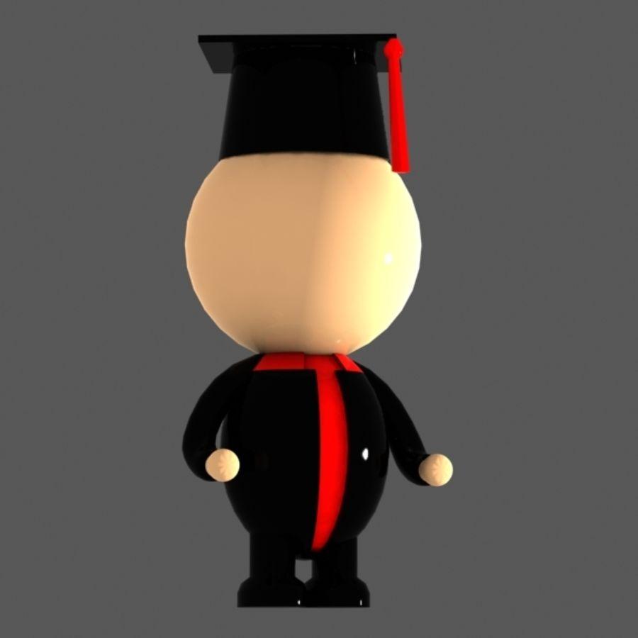 Personagem de estudante royalty-free 3d model - Preview no. 2