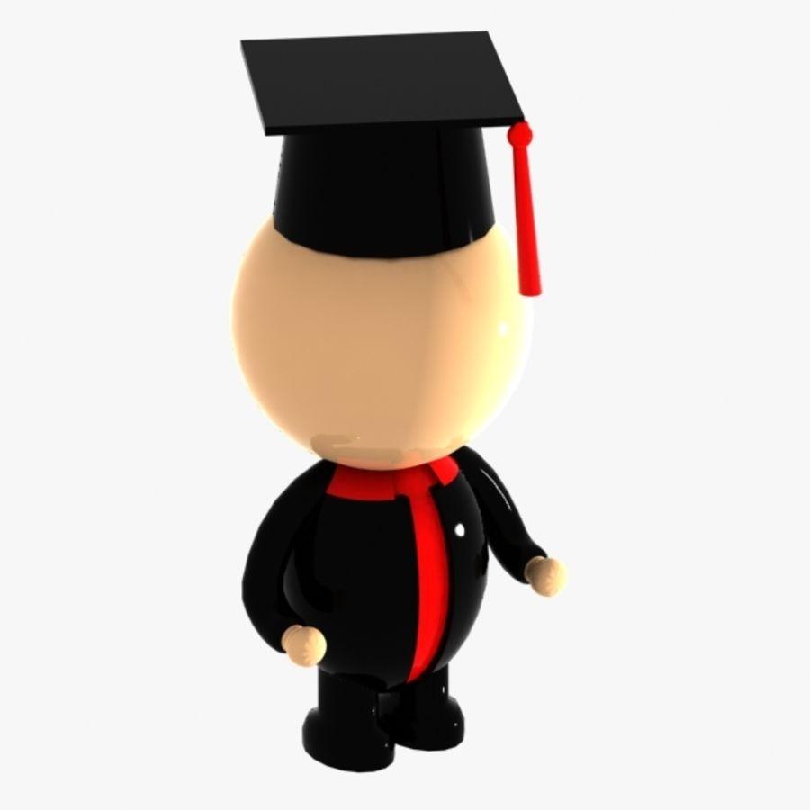 Personagem de estudante royalty-free 3d model - Preview no. 5