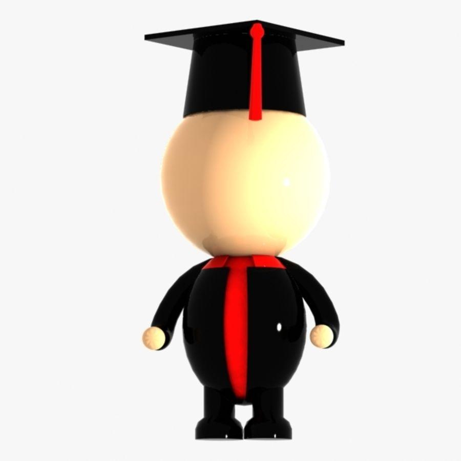 Personagem de estudante royalty-free 3d model - Preview no. 3
