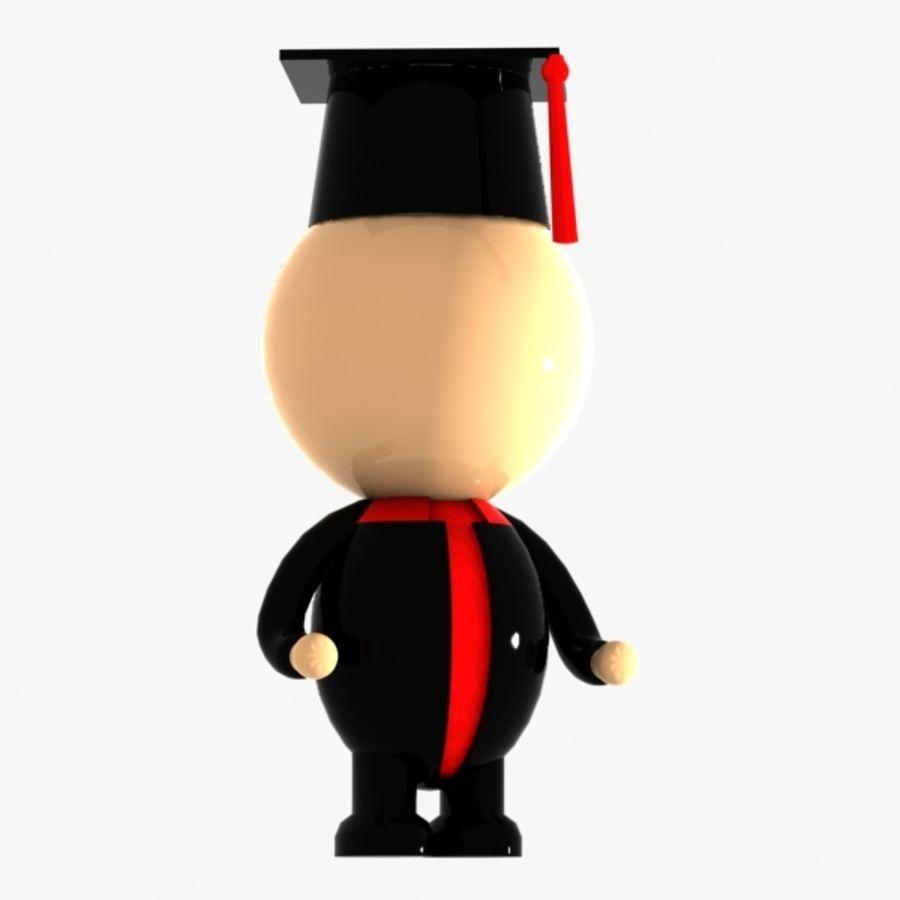 Personagem de estudante royalty-free 3d model - Preview no. 1