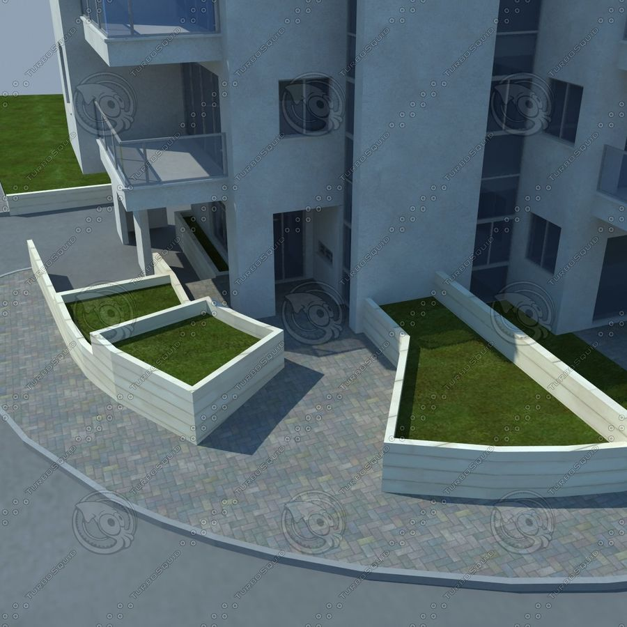 buildings(6) royalty-free 3d model - Preview no. 12