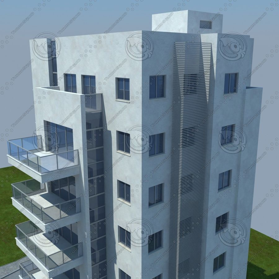 buildings(6) royalty-free 3d model - Preview no. 17