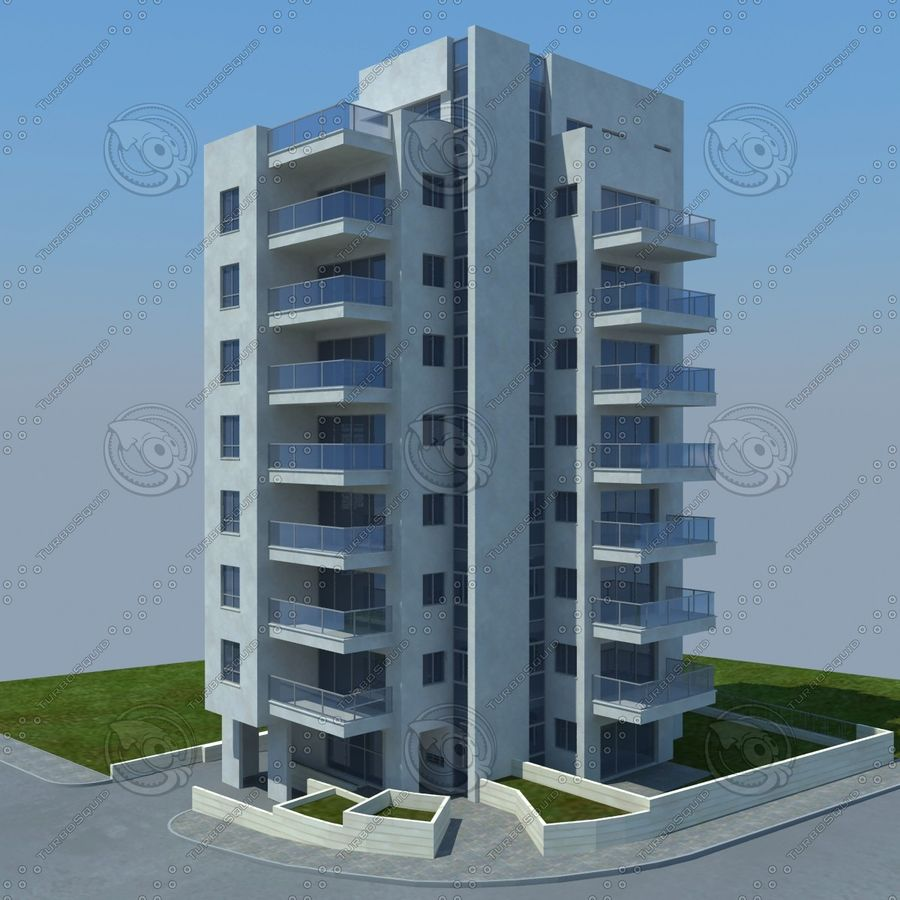 buildings(6) royalty-free 3d model - Preview no. 1