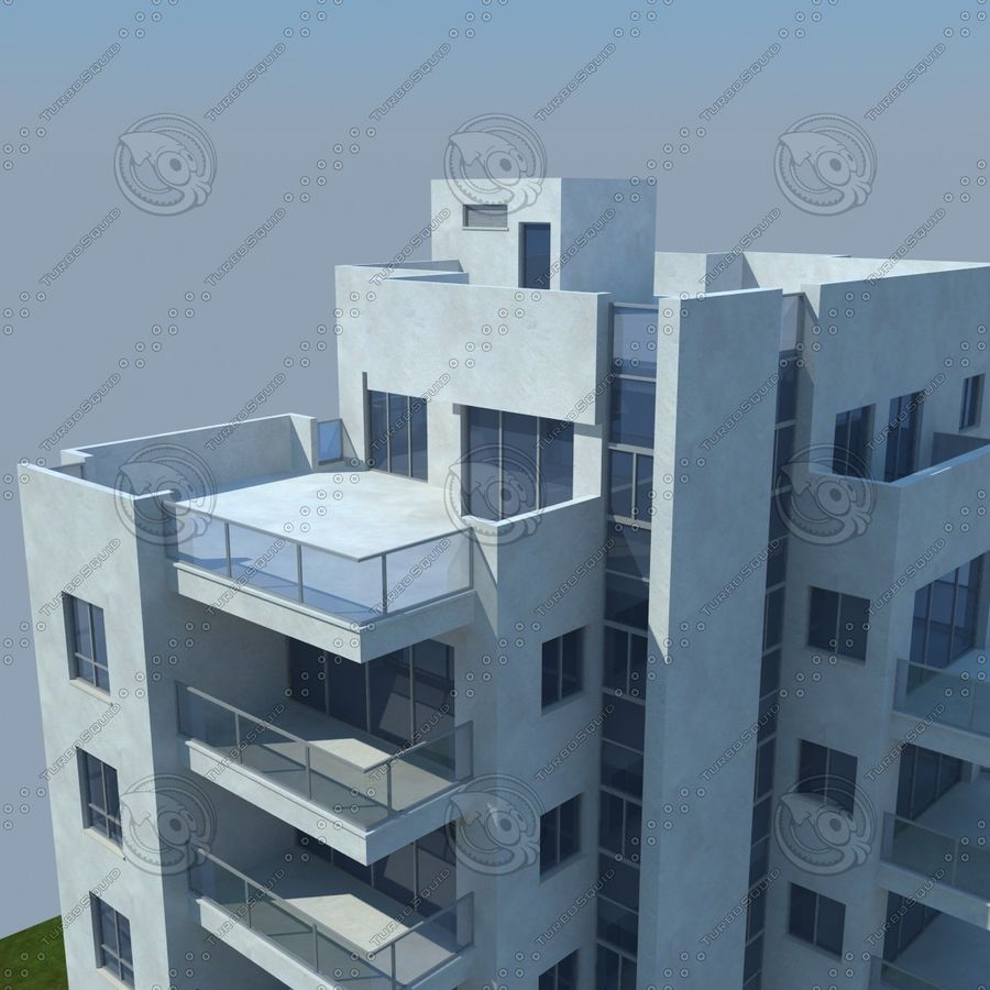 buildings(6) royalty-free 3d model - Preview no. 14