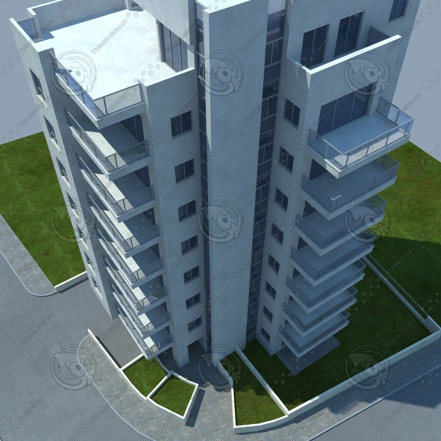 buildings(6) royalty-free 3d model - Preview no. 24