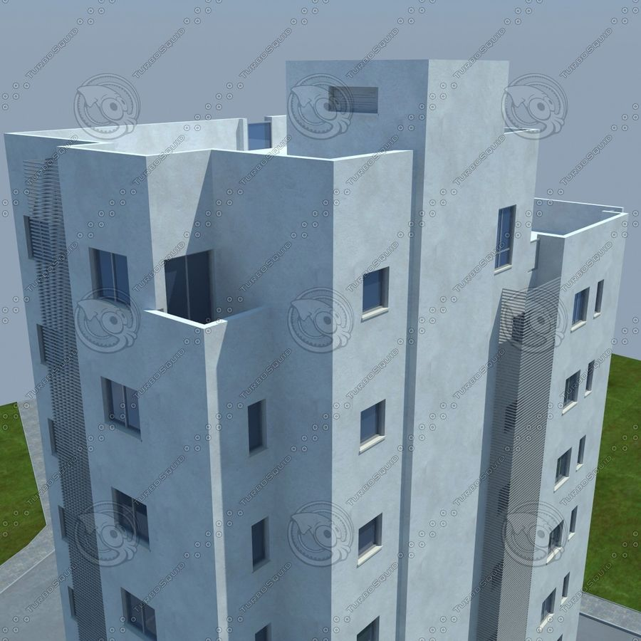 buildings(6) royalty-free 3d model - Preview no. 19