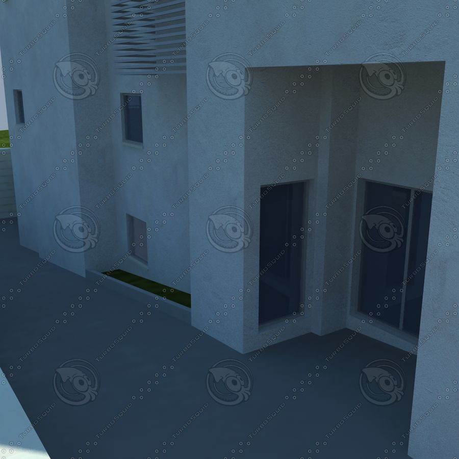 buildings(6) royalty-free 3d model - Preview no. 9
