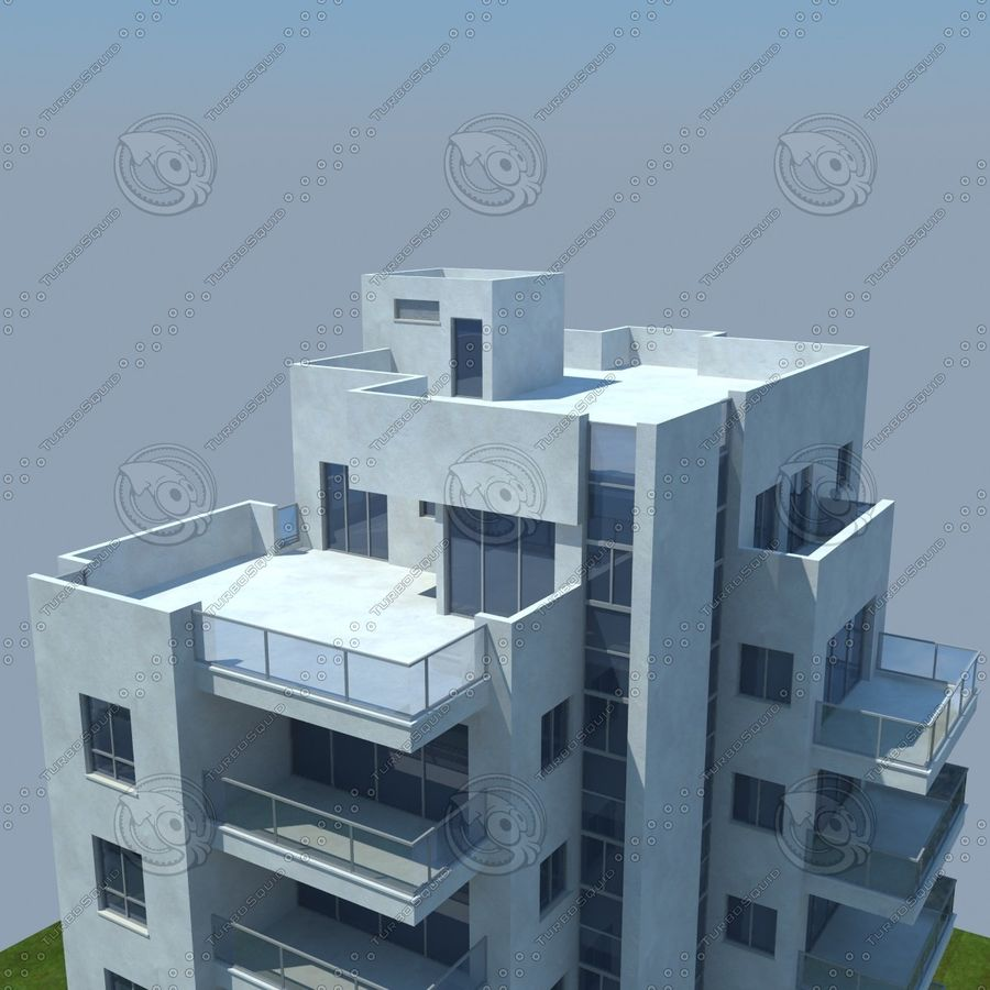 buildings(6) royalty-free 3d model - Preview no. 21