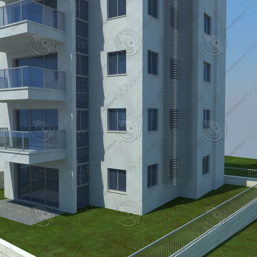 buildings(6) royalty-free 3d model - Preview no. 18