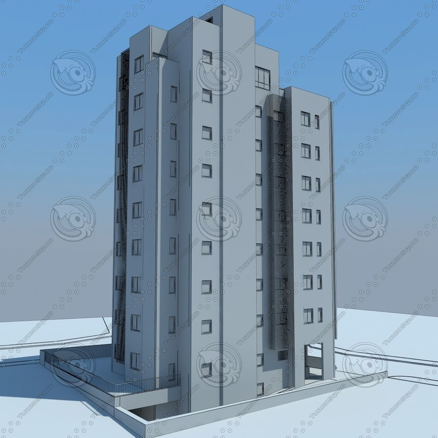 buildings(6) royalty-free 3d model - Preview no. 26