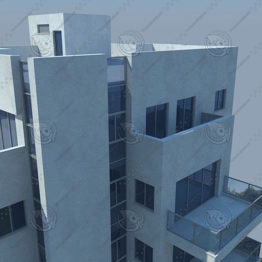 buildings(6) royalty-free 3d model - Preview no. 15