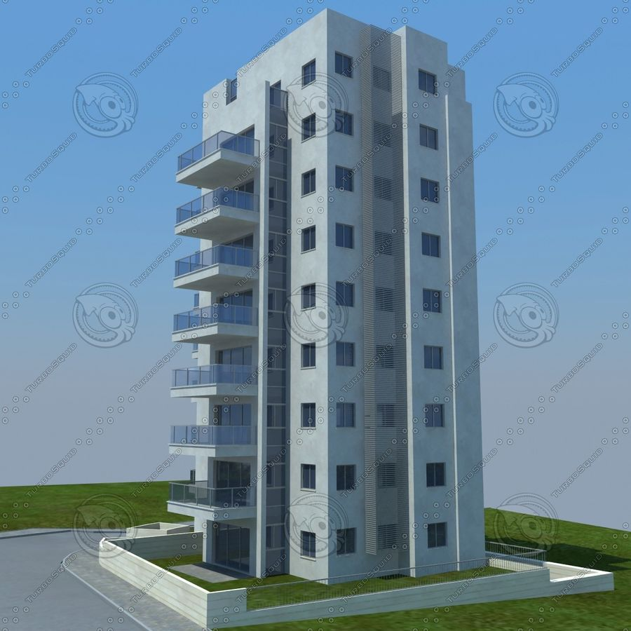 buildings(6) royalty-free 3d model - Preview no. 3