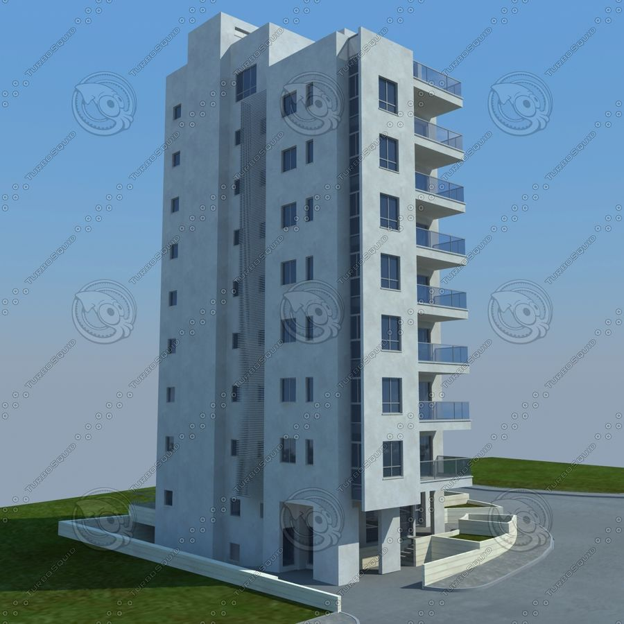 buildings(6) royalty-free 3d model - Preview no. 5