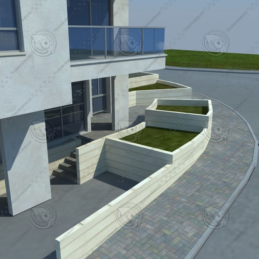 buildings(6) royalty-free 3d model - Preview no. 7