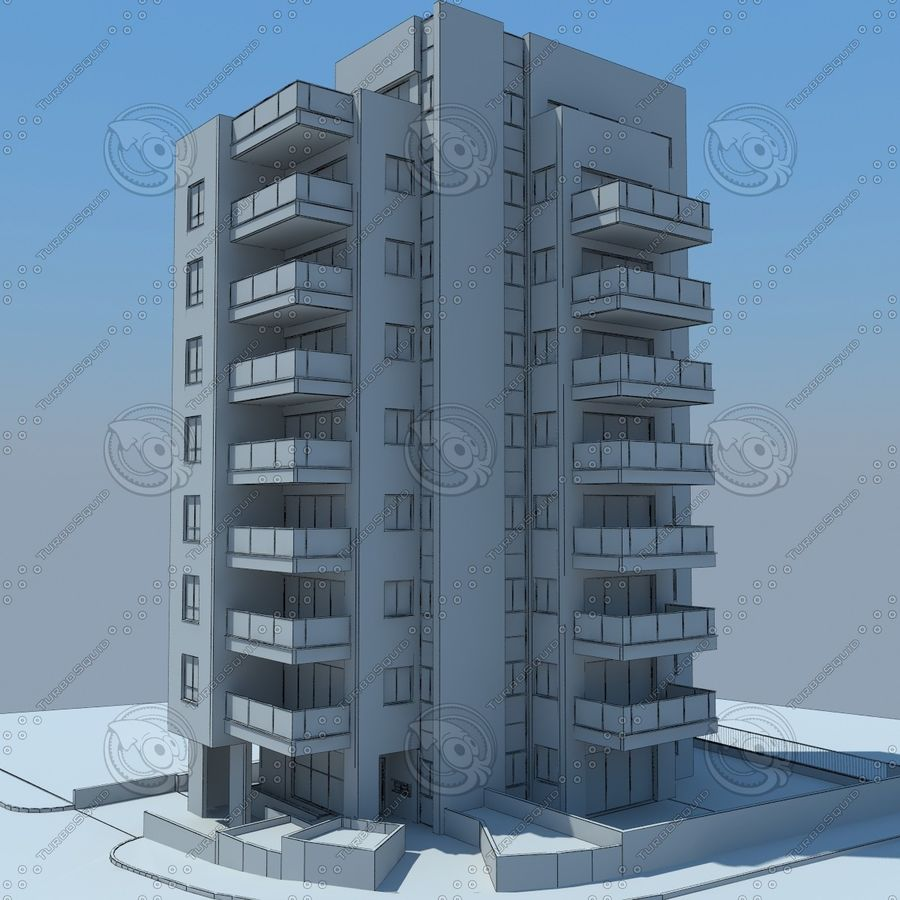 buildings(6) royalty-free 3d model - Preview no. 25