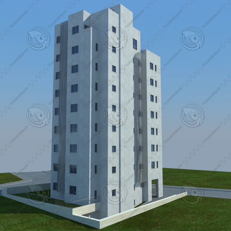 buildings(6) royalty-free 3d model - Preview no. 4