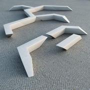 Escofet Mileno Public Bench 3d model