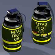Grenade à gaz lacrymogène 3d model