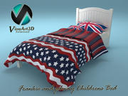 Frankie and Johnny Child Bed 3d model