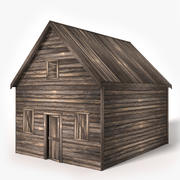 Old Wood Shed 3d model