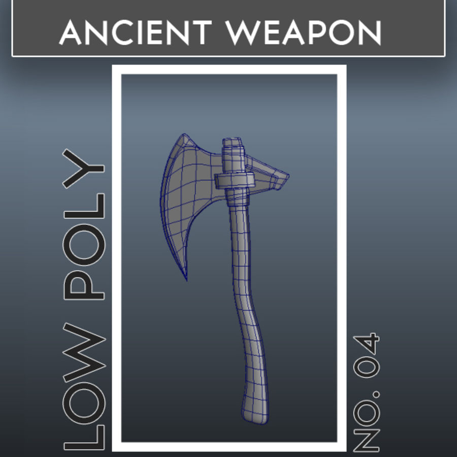 Ancient Weapon_04 royalty-free 3d model - Preview no. 1