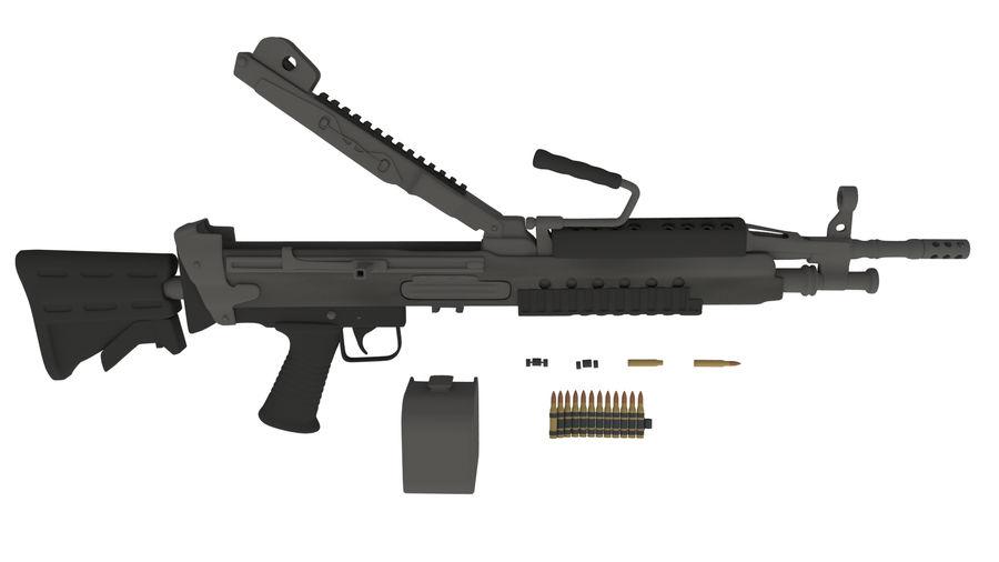 M249 Saw royalty-free 3d model - Preview no. 3