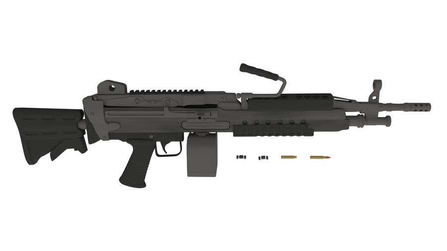M249 Saw royalty-free 3d model - Preview no. 1