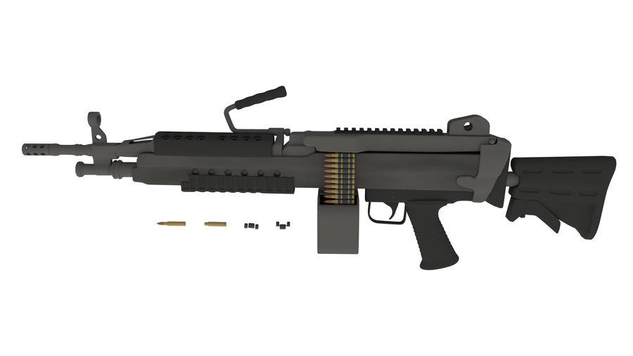 M249 Saw royalty-free 3d model - Preview no. 2