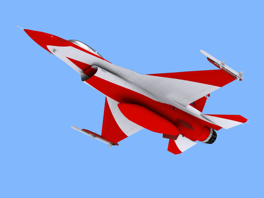 RSAF F16 Black Knights royalty-free 3d model - Preview no. 3